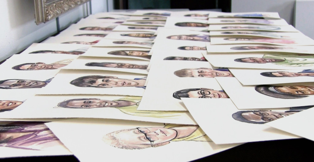 table portrait spread