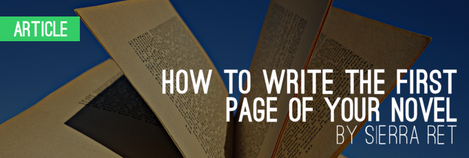 How to Write the First Page of Your Novel