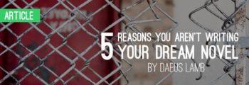 Five Reasons You Aren't Writing Your Dream Novel